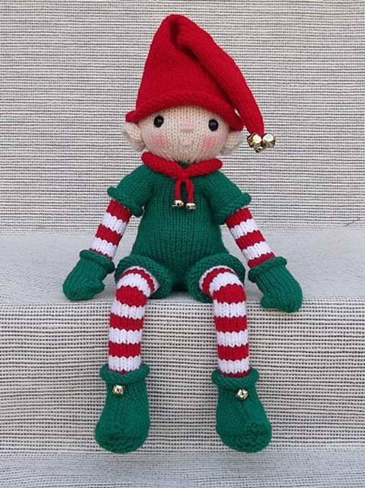 Elf Knitting Hearts : Christmas elf knitting pattern by rainebo