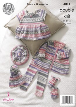 Baby Set in King Cole DK - 4011 - Downloadable PDF