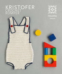 """Kristofer Crochet Romper"" - Playsuit Crochet Pattern in MillaMia Naturally Soft Cotton"