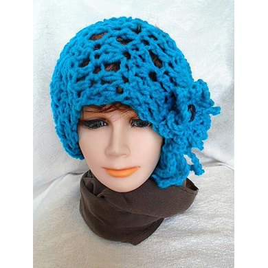 841 Peacock Slouchy Hat