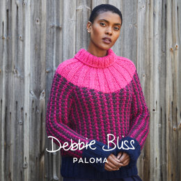 """ Victoria "" - Jumper Knitting Pattern For Women in Debbie Bliss Paloma by Debbie Bliss"