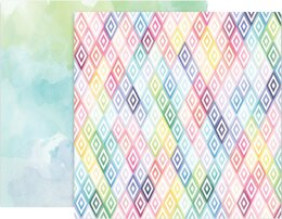 """American Crafts Paige Evans Bloom Street Double-Sided Cardstock 12""""X12"""" 25/Pkg - #10"""