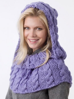 Shoulder Hoodie in Caron Simply Soft - Downloadable PDF