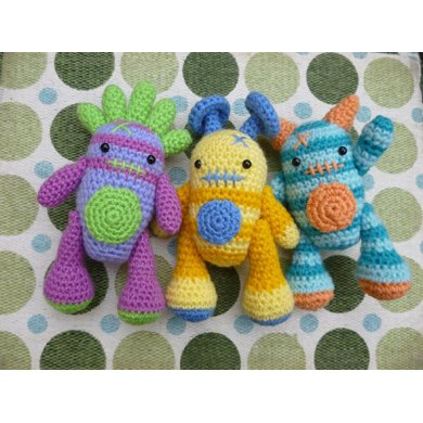 Mini Monsters Amigurumi Crochet Pattern
