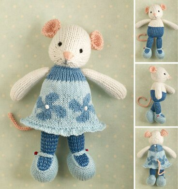 Girl mouse in a flowered dress