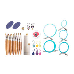 "HiyaHiya Bamboo Interchangeable Needle Ultimate Knitting Gift Sets - 12cm (5"")"