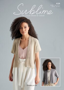 Crochet Cardigan in Sublime Isabella - 6128 - Downloadable PDF