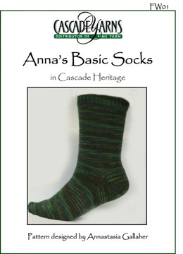 Anna's Basic Sock in Cascade Heritage Paints - FW01