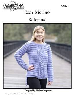 Katerina Sweater in Cascade Yarns Eco+ Merino - A322 - Downloadable PDF