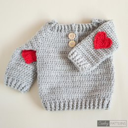 Red Heart Crochet Baby Sweater