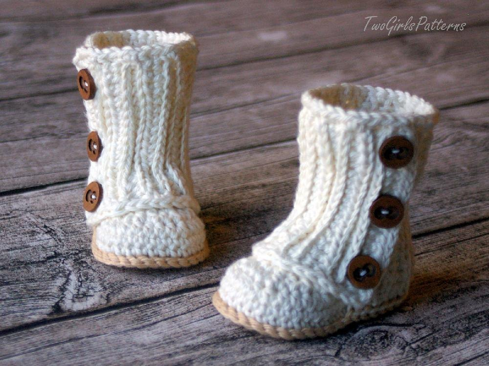 Baby Wrap Boots Crochet pattern by Two Girls Patterns ...
