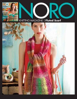 Fluted Scarf in Noro Taiyo - 08 - Downloadable PDF