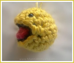 Crochet Pacman Amigurumi Toy Pattern Smiley Ghost