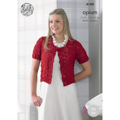 Sweater and Cardigan in King Cole Opium - 4180 - Downloadable PDF