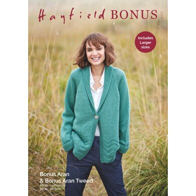 Jacket in Hayfield Bonus Aran with Wool - 8231 - Downloadable PDF
