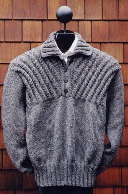 MS 141 Ribbed Yoke Placket Pullover