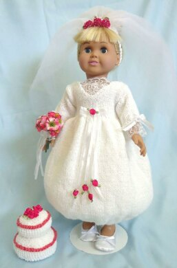 A Charming Wedding, Knitting Patterns fit American Girl and other 18-Inch Dolls