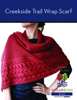 Creekside Trail Wrap Scarf in Sugar Bush Yarns Bliss - 658509 - Downloadable PDF