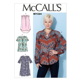 McCall's Misses' Half Placket Tops and Tunic M7324 - Sewing Pattern