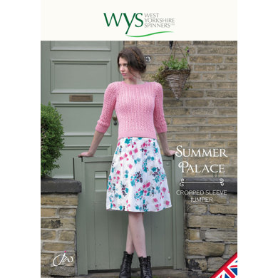 Summer Palace Cropped Sleeve Jumper in West Yorkshire Spinners Aire Valley DK