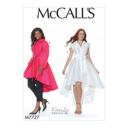 McCall's Misses'/Women's Dress, Tunic and Sash M7727 - Sewing Pattern