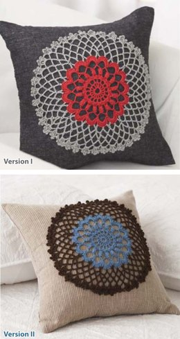Doily Pillow in Bernat Handicrafter Crochet Thread