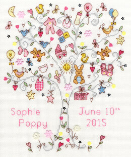 Bothy Threads Love Baby Girl Cross Stitch Kit - 28cm x 22cm