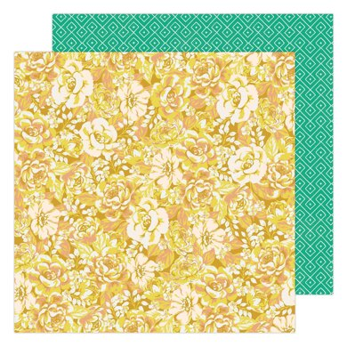 """American Crafts Maggie Holmes - Garden Party Cluster of Blooms 12""""x12"""" Cardstock"""