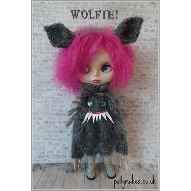 "Wolfie! Werewolf suit and headband for 12"" Blythe doll"