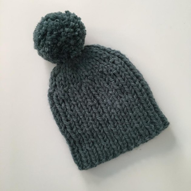 Free Knitting Pattern Chunky Baby Hat : Quick and Easy Bulky Weight Bobble Hat Knitting pattern by Julie Taylor
