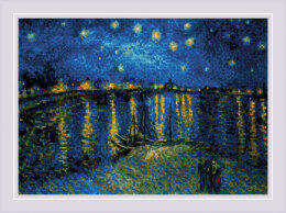 Riolis Starry Night over the Rhone Cross Stitch Kit - 38cm x 26cm