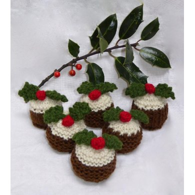 Christmas Pudding Ferrero Rocher Cosies Knitting Pattern By Tess Young