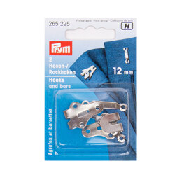Prym Trouser Hooks and Bars 12mm - Silver