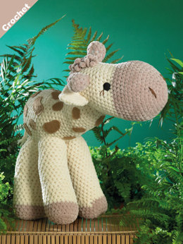 Sunshine the Giraffe Toy in James C. Brett Flutterby Chunky - JB401