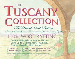 Hobbs Batting Tuscany 100% Washable Wool 72in x 96in Twin