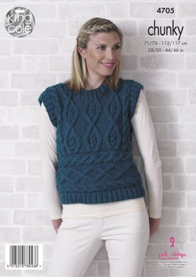 Sweater and Sleeveless Top in King Cole Value Chunky - 4705 - Downloadable PDF
