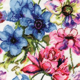 Design WorksWatercolour Floral Needlepoint Kit - 12in x 12in
