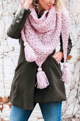 At First Blush Triangle Scarf
