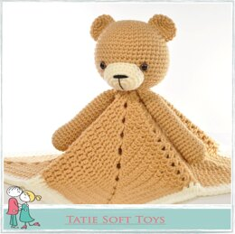Lovey Blanket Bear Security Blanket Teddy
