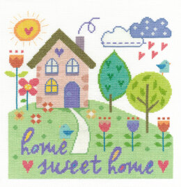 DMC Home Sweet Home 14 Count Cross Stitch Kit - 25.2cm x 18cm