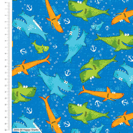 Craft Cotton Company Children - Happy Sharks