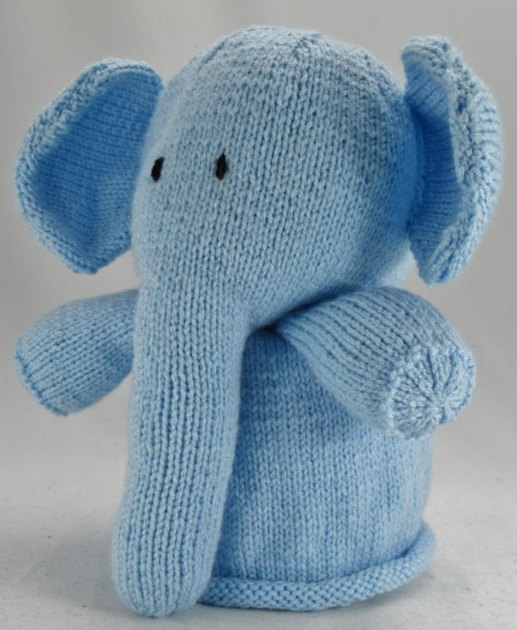 Elephant Toilet Roll Cover Knitting pattern by Knitting by Post
