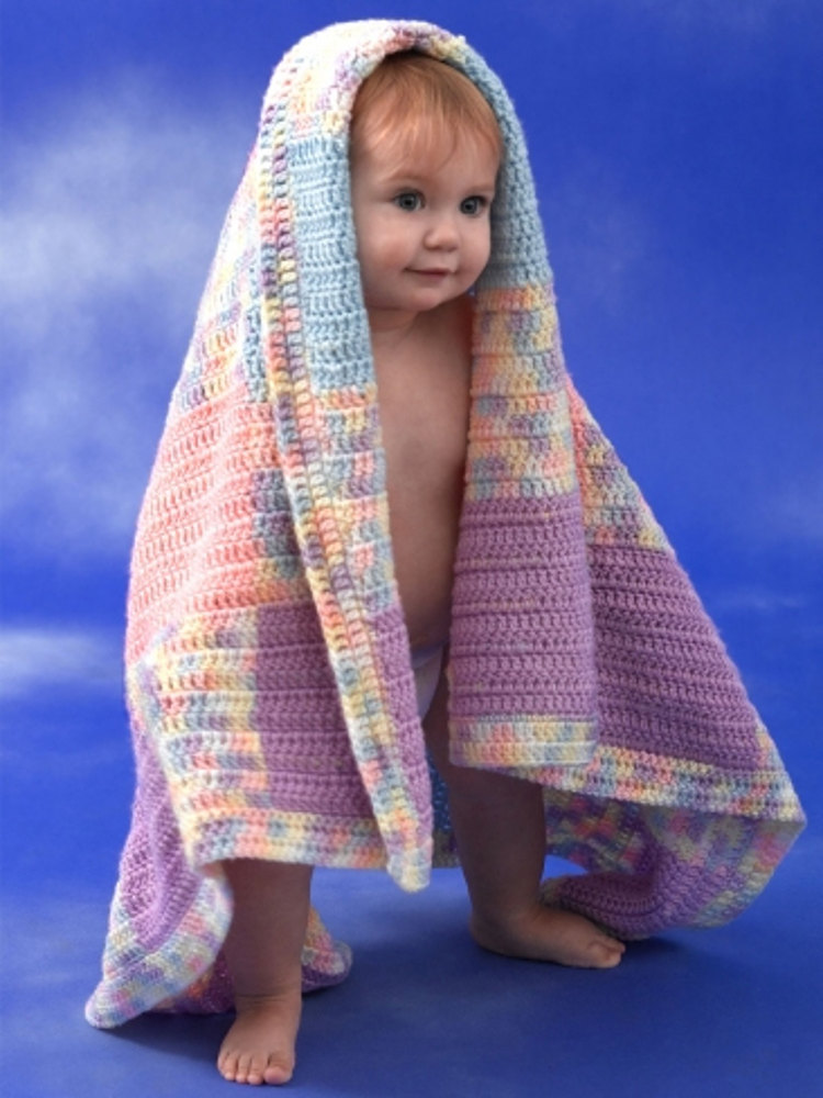 Patchwork Plaid Baby Blanket In Caron Simply Soft Amp Simply