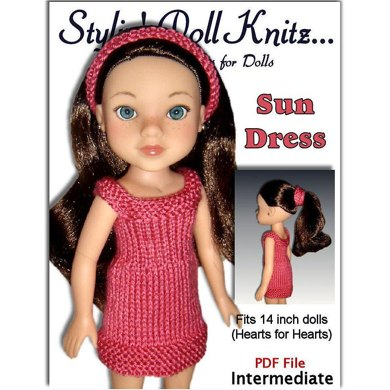Sun Dress, Fits Hearts for Hearts dolls, 14 inch.