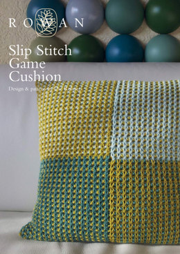 Slip Stitch Game Cushion in Rowan Pure Wool Worsted