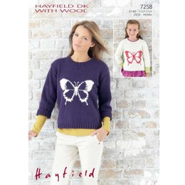 Girl'S And Woman'S Sweaters in Hayfield Dk With Wool - 7258