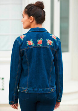 5TH Avenue - Red Rose Denim Jacket in Anchor - Downloadable PDF