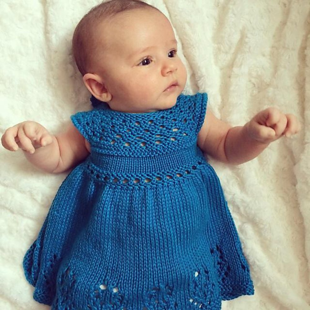 Knitting Pattern Child Dress : Lilly Rose Dress Knitting pattern by Taiga Hilliard Designs Knitting Patter...