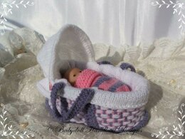 Doll's Moses basket & cribs to fit dolls from 4 to 22 inches