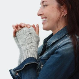 Entwined Fingerless Mitts
